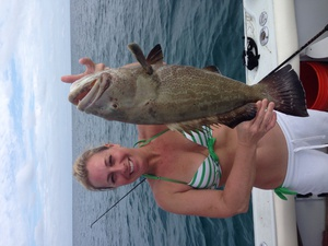 Grouper caught by Carolyn Lenske