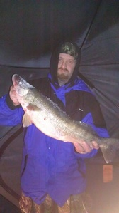Walleye caught by steve schaefer