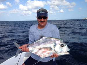 African Pompano caught by Mike Macrides