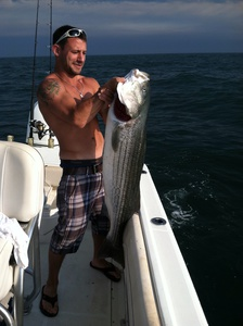 Striped bass caught by lenny defelice