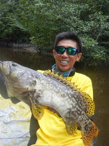 Grouper Fish caught by wijayadi wijayadi