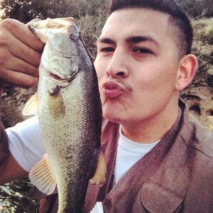 large mouth bass caught by Santos Macias