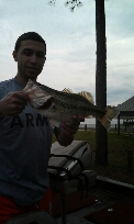 Spotted Bass caught by Clarence Enos