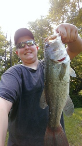 large mouth bass  caught by levi joulwan