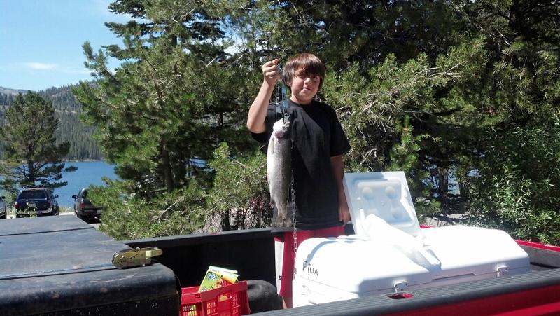 Caples lake ca fishing reports map hot spots for Caples lake fishing report