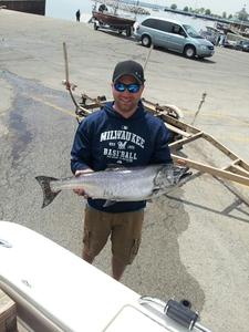 King salmon caught by Jon Blicharz
