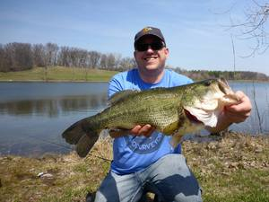 Large mouth bass caught by steve walisiak