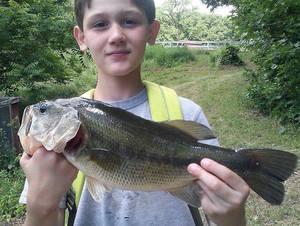 Large mouth bass caught by Tabatha Stankoski