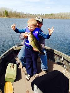 Large mouth Bass caught by Bobbi Ogden