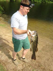 large mouth bass caught by Matt Rhodes