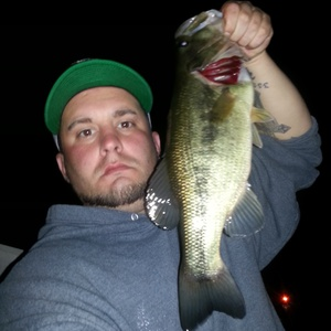 large mouth bass caught by Tom Lloyd