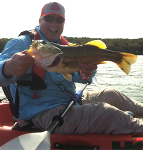 Large Mouth Bass caught by Tom Ball