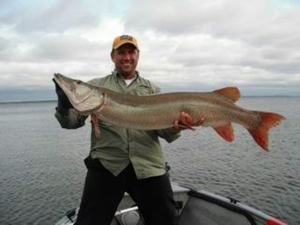 """Musky 51"""" caught by DARRELL BROWN"""