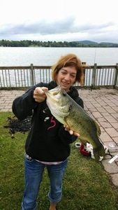 largemouth bass caught by Crystal Coley