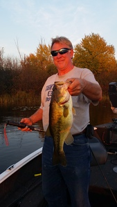 large mouth bass caught by jim kuchel