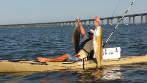 red drum caught by jimmy baker