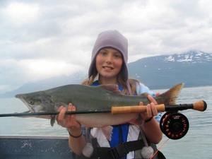 Pink Salmon caught by Kelly Musgraves