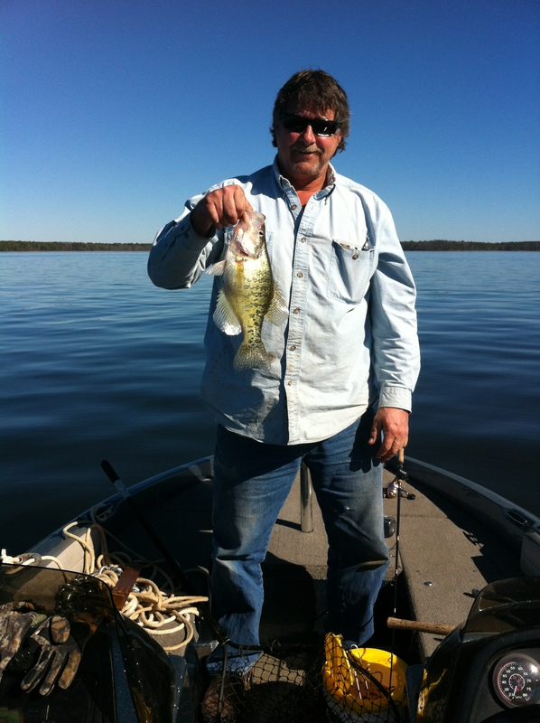 Caught a crappie on lake o 39 the pines using a minnows for Lake of the pines fishing report