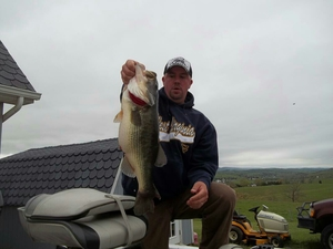 Large mouth bass caught by James Adkins