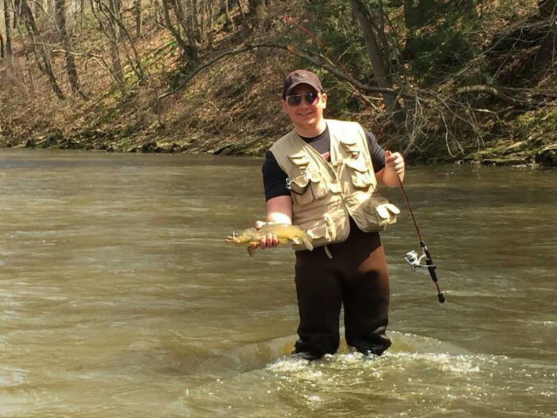 Neshannock creek lawrence pa fishing reports map hot for Blue creek fishing report