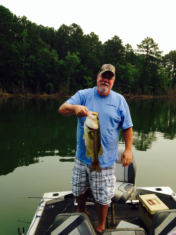 Caught a largemouth bass on clarks hill lake j strom for Clarks hill lake fishing report