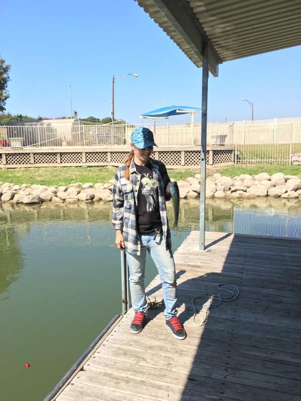 Caught a largemouth bass on joe pool lake using a glow for Joe pool lake fishing report