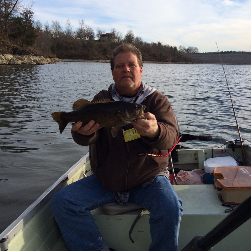 Caught a smallmouth bass on blue marsh lake using a mid for Blue marsh lake fishing