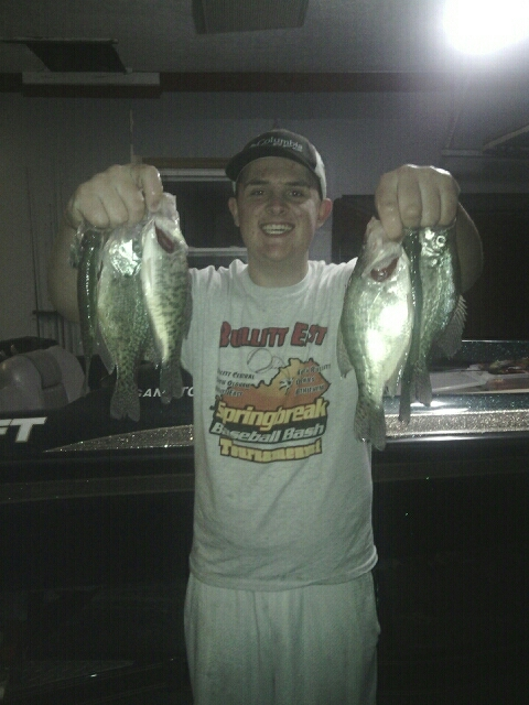 Taylorsville lake ky fishing reports map hot spots for Kentucky lake crappie fishing report